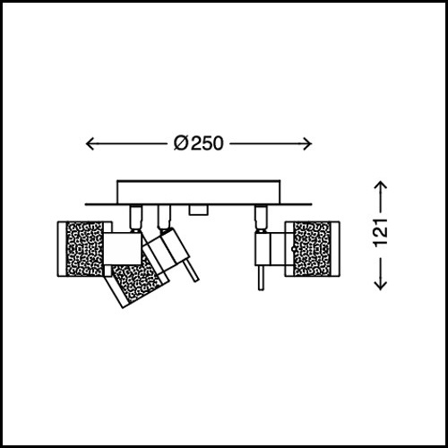 LED Bad-Leuchte Lampe IP44 Badezimmer-Strahler Decken-Spot 3-flammig ...